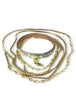 Rebel Street Art Wrap Bangle in Brass from Dana Walden Jewelry