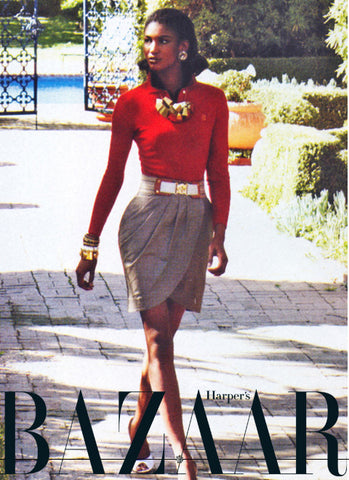 Sesillie Geometric Brass Necklace from Dana Walden Jewelry worn by Sesillie Lopez in Harper's Bazaar
