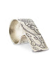 Shadow Graffiti Etched Two Finger Ring in Silver from Dana Walden Jewelry