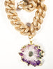 Tessa Natural Amethyst Geode Necklace