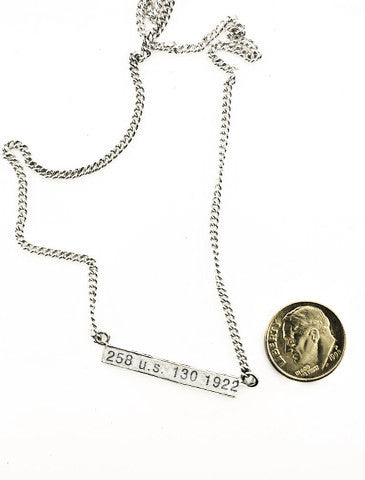 Civil Rights Jewelry Women's Suffrage no. 1 Necklace Dana Walden  Proportion
