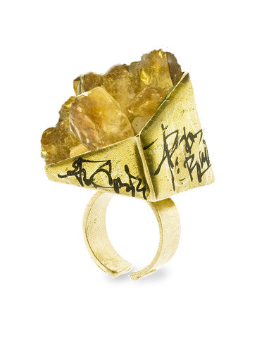 Zola Citrine Gemstone Ring Dana Walden Jewelry