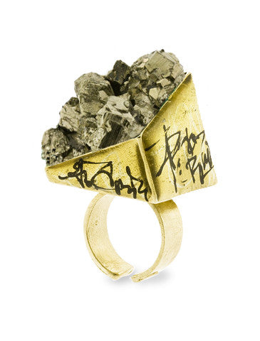 Zola Pyrite Gemstone Ring Dana Walden Jewelry