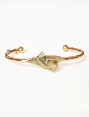 Clio Geometric Cuff in Eco-Friendly Recycled Brass