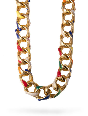 Color Theory Brass Necklace from Dana Walden Jewelry