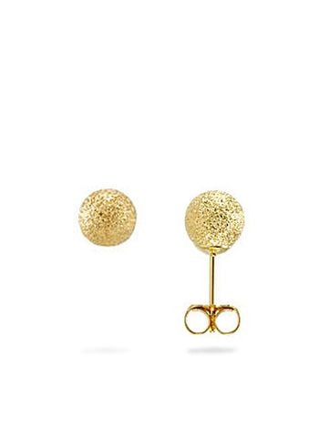 Elle Stud Earrings in Gold from Dana Walden Jewelry Side View