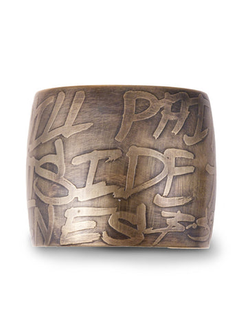 Fresco Street Art Inspired Brass Cuff from Dana Walden Jewelry