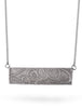 Fulton Brooklyn Graffiti Necklace in Silver from Dana Walden Jewelry