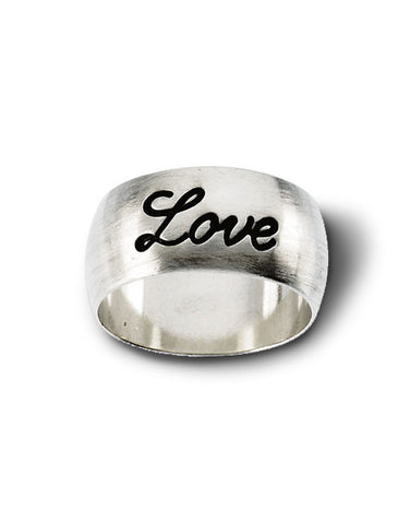 Love Recycled Silver Ring from Dana Walden Jewelry