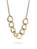 Marilyn Gold & Rose Brass Choker Necklace