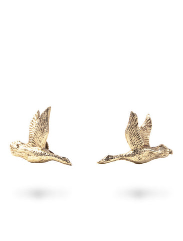Prospect Bird Earrings in Gold from Dana Walden Jewelry