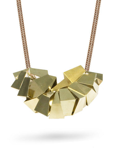 Sesillie Geometric Brass Necklace from Dana Walden Jewelry