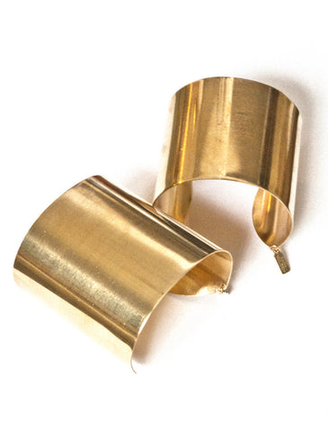 Stella Eco-Friendly Gold Tone Cuff Set - Recycled Brass