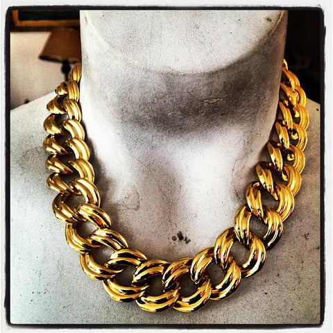Tilda Vintage Necklace Found in NYC Shown Worn