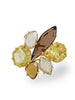 Zahara Rutilated Quartz, Honey Citrine & Smoky Quartz Ring in Yellow Gold from Dana Walden Jewelry