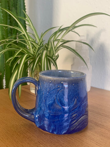 25 Deep Blue Fog Wave Mug