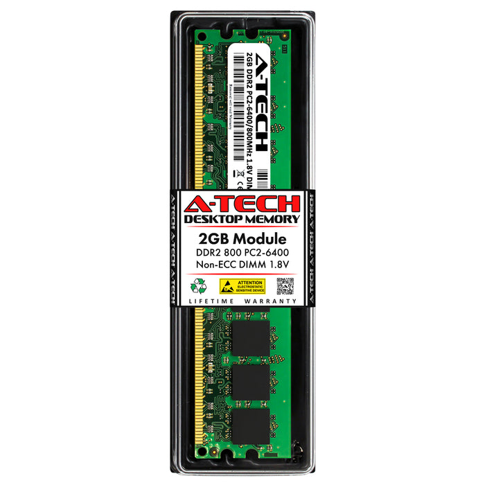 2GB DDR2-800 (PC2-6400) DIMM Desktop Memory RAM