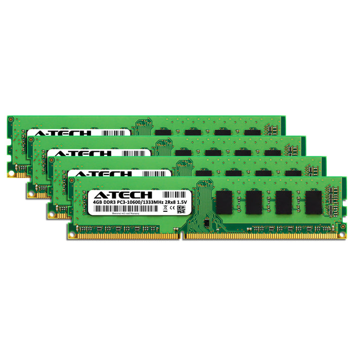 16GB Kit (4 x 4GB) DDR3-1333 (PC3-10600) DIMM DR x8 Memory RAM for Dell OptiPlex 980 Mini-Tower