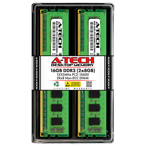 16GB Kit (2 x 8GB) DDR3-1333 (PC3-10600) DIMM DR x8 Memory RAM for Acer Aspire At3-605-Ur21