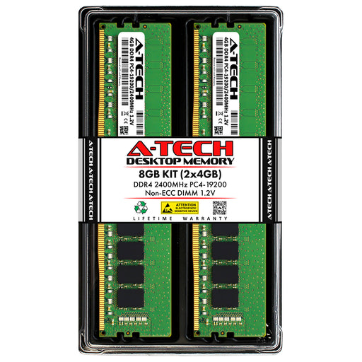 8GB Kit (2 x 4GB) DDR4-2400 (PC4-19200) DIMM Memory RAM for ASUS PRIME Prime H370M-PLUS/CSM