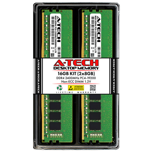 16GB Kit (2 x 8GB) DDR4-2400 (PC4-19200) DIMM Memory RAM for ASRock H270M