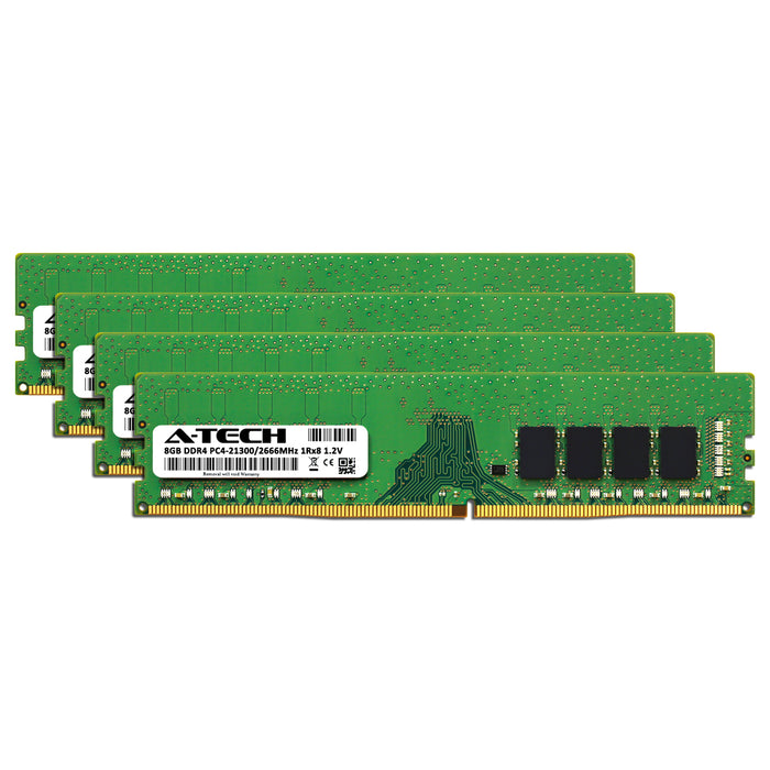 32GB Kit (4 x 8GB) DDR4-2666 (PC4-21300) DIMM SR x8 Memory RAM for Dell OptiPlex 5060 Tower