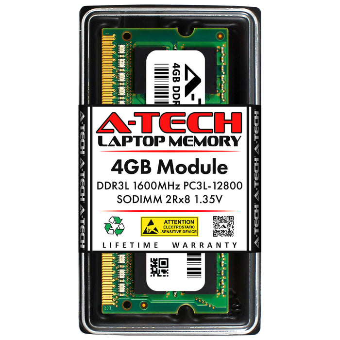 4GB DDR3L-1600 (PC3-12800) SODIMM DR x8 Memory RAM for Toshiba Tecra A50