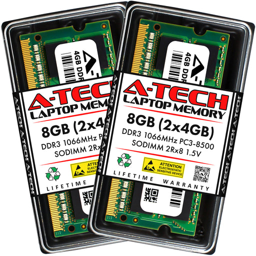 8GB Kit (2 x 4GB) DDR3-1066 (PC3-8500) SODIMM DR x8 Memory RAM for Acer Aspire Ao756-2899