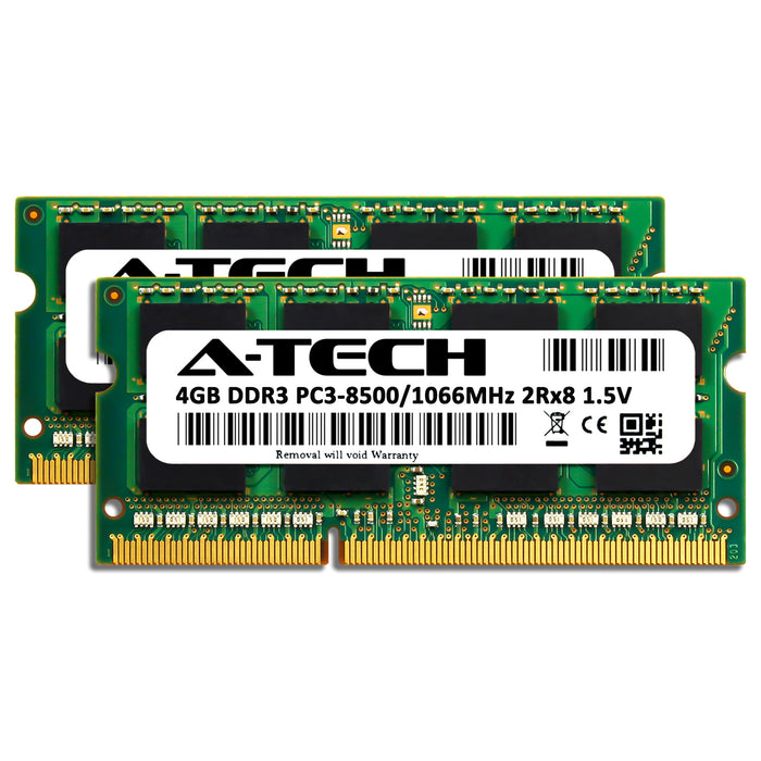 8GB Kit (2 x 4GB) DDR3-1066 (PC3-8500) SODIMM DR x8 Memory RAM for Toshiba Tecra R700-00G