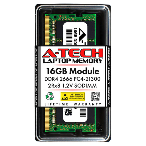 16GB DDR4-2666 (PC4-21300) SODIMM DR x8 Laptop Memory RAM