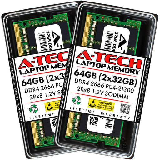64GB Kit (2 x 32GB) DDR4-2666 (PC4-21300) SODIMM DR x8 Memory RAM for Acer Nitro 5 (AN515-54-51M5)