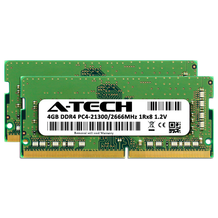 8GB Kit (2 x 4GB) DDR4-2666 (PC4-21300) SODIMM SR x8 Memory RAM for Dell Latitude 14 (7480)