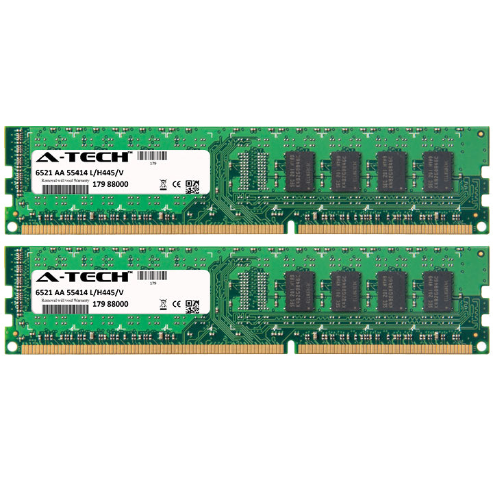 4GB Kit (2 x 2GB) DDR3-1333 (PC3-10600) DIMM SR x8 Desktop Memory RAM