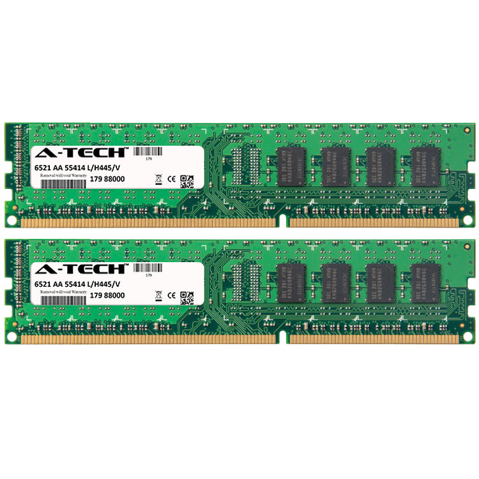 4GB Kit (2 x 2GB) DDR3-1333 (PC3-10600) DIMM DR x8 Desktop Memory RAM