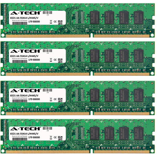 8GB Kit (4 x 2GB) DDR3-1333 (PC3-10600) DIMM SR x8 Desktop Memory RAM