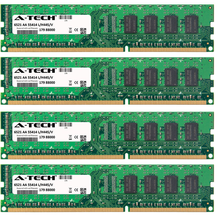 4GB Kit (4 x 1GB) DDR3-1066 (PC3-8500) DIMM SR x8 Desktop Memory RAM