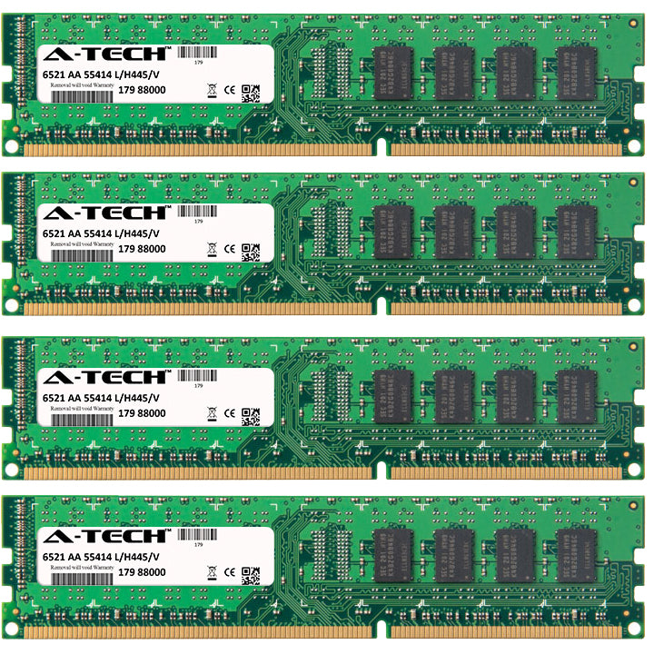 8GB Kit (4 x 2GB) DDR3-1333 (PC3-10600) DIMM DR x8 Desktop Memory RAM