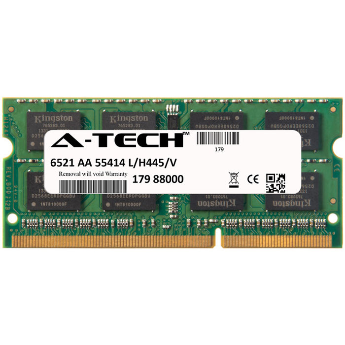 4GB DDR3-1600 (PC3-12800) SODIMM DR x8 Laptop Memory RAM