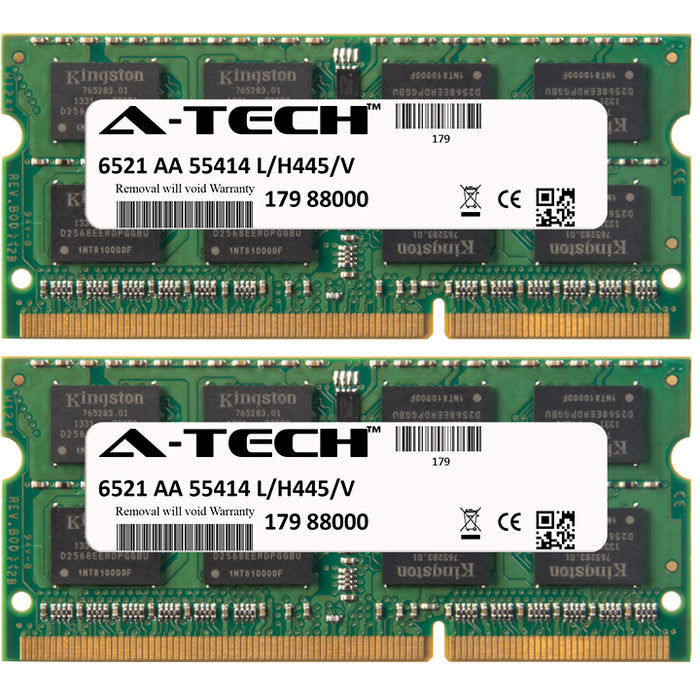 4GB Kit (2 x 2GB) DDR3-1333 (PC3-10600) SODIMM DR x8 Laptop Memory RAM
