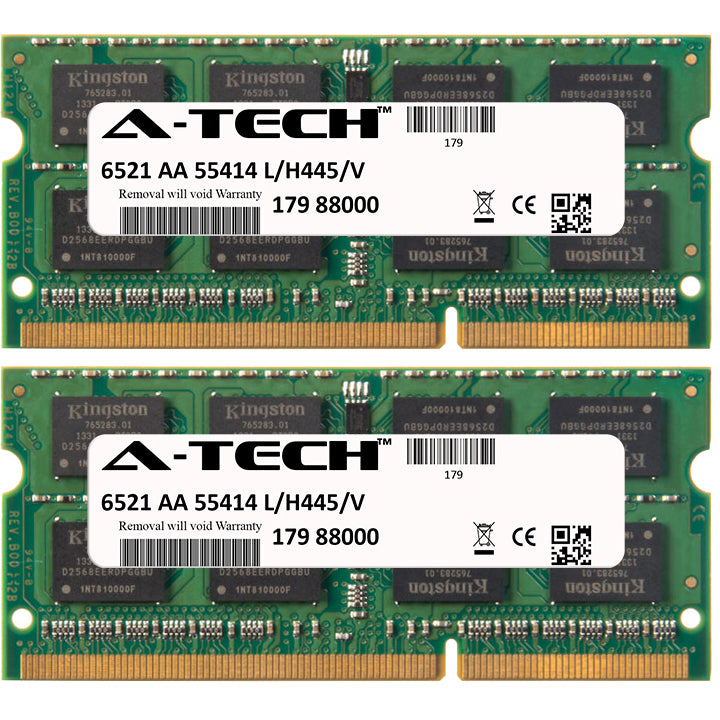 4GB Kit (2 x 2GB) DDR3-1600 (PC3-12800) SODIMM SR x8 Laptop Memory RAM
