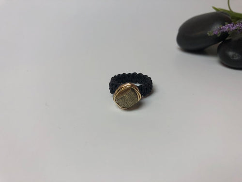 Wire-wrapped Golden Ring