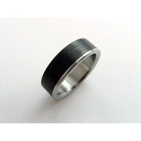 Carbon Fiber and Titanium Ring -- Titanium Stripe - hersteller