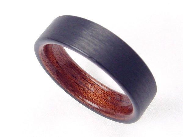 Carbon Fiber Ring with Rosewood Bent Wood Interior - hersteller