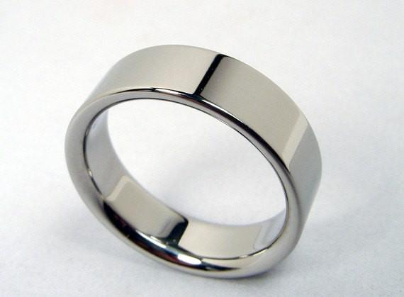 Mirror Polished Modern Titanium Wedding Band - hersteller