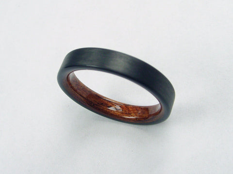 Narrow Carbon Fiber and Rosewood Ring - hersteller