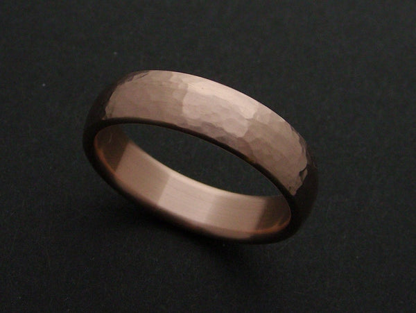 Narrow Hammered Ring in Bronze - hersteller
