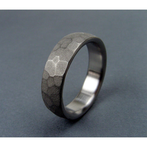 Turtle Shell Ring in Matte Titanium - hersteller