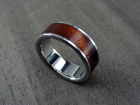 Wood and Titanium Ring with Koa Wood - hersteller