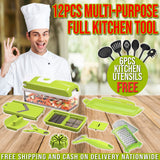 12pcs MULTI PURPOSE FULL KITCHEN TOOL W/ FREE KITCHEN UTENSIL
