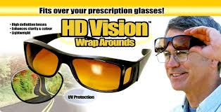 Hd Vision Anti Glare Night View Driving Glasses 2pcs set